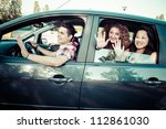 friends ready for vacations... | Shutterstock . vector #112861030
