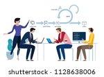 agile development software... | Shutterstock .eps vector #1128638006