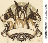 Boxer Crest Design. Vector...