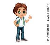 cartoon vector illustration of... | Shutterstock .eps vector #1128645644
