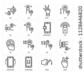 set of 16 icons such as swipe ...