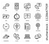 set of 16 icons such as rate ... | Shutterstock .eps vector #1128647939
