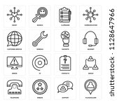 set of 16 icons such as...   Shutterstock .eps vector #1128647966