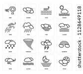 set of 16 icons such as moon ...