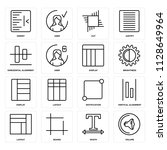 set of 16 icons such as volume  ...