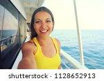 selfie photo of young model... | Shutterstock . vector #1128652913