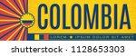 colombia patriotic banner... | Shutterstock .eps vector #1128653303