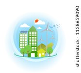 ecology concept  save the world | Shutterstock .eps vector #1128659090
