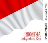 17 august  indonesia... | Shutterstock .eps vector #1128661748