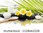 spa still life with black... | Shutterstock . vector #1128662228