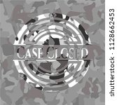 case closed grey camouflaged... | Shutterstock .eps vector #1128662453