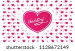 the big pink heart in the... | Shutterstock .eps vector #1128672149