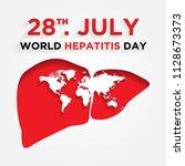 happy world hepatitis day... | Shutterstock .eps vector #1128673373