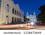 santa ana cathedral and theatre....   Shutterstock . vector #1128673649