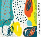 creative doodle art header with ...   Shutterstock .eps vector #1128675659