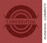 confidential badge with red... | Shutterstock .eps vector #1128680273