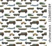military transport vector... | Shutterstock .eps vector #1128685589