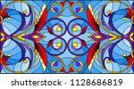 illustration in stained glass... | Shutterstock .eps vector #1128686819