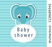baby shower card | Shutterstock .eps vector #1128689543