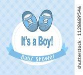 baby shower card | Shutterstock .eps vector #1128689546