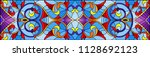 illustration in stained glass... | Shutterstock .eps vector #1128692123