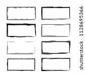 set of black rectangle grunge... | Shutterstock .eps vector #1128695366