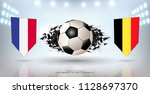 football cup 2018  semi finals... | Shutterstock .eps vector #1128697370