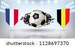 football cup 2018  semi finals... | Shutterstock .eps vector #1128697370