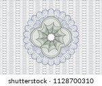 blue and green rosette or money ... | Shutterstock .eps vector #1128700310