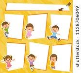 children's frame collection. | Shutterstock .eps vector #1128706049
