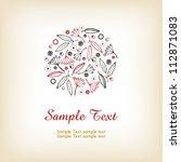 illustrated decorative... | Shutterstock .eps vector #112871083