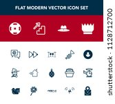 modern  simple vector icon set... | Shutterstock .eps vector #1128712700