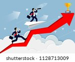 businessman competition on a... | Shutterstock .eps vector #1128713009