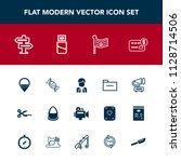 modern  simple vector icon set...   Shutterstock .eps vector #1128714506