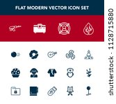 modern  simple vector icon set... | Shutterstock .eps vector #1128715880