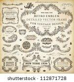 vector set of calligraphic... | Shutterstock .eps vector #112871728
