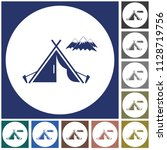 stylized icon of tourist tent.... | Shutterstock .eps vector #1128719756