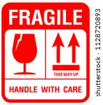 packaging label   fragile  just ... | Shutterstock .eps vector #1128720893