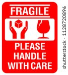 packaging label   fragile  just ... | Shutterstock .eps vector #1128720896