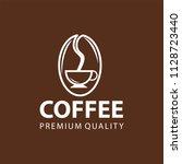 coffee shop logo design element ...   Shutterstock .eps vector #1128723440