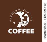 coffee shop logo design element ...   Shutterstock .eps vector #1128726440