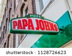 billboard from papa john's at... | Shutterstock . vector #1128726623