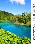 beautiful landscape in the...   Shutterstock . vector #1128728786