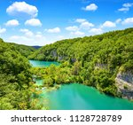 beautiful landscape in the...   Shutterstock . vector #1128728789