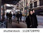 new york city  usa   april 6 ... | Shutterstock . vector #1128728990