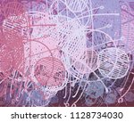 abstract painting on canvas....   Shutterstock . vector #1128734030