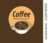 coffee shop logo design element ...   Shutterstock .eps vector #1128734420