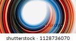 rainbow fluid abstract swirl... | Shutterstock .eps vector #1128736070