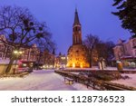 church of st. george in sopot.... | Shutterstock . vector #1128736523