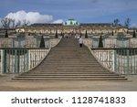 sanssouci palace in potsdam ...   Shutterstock . vector #1128741833